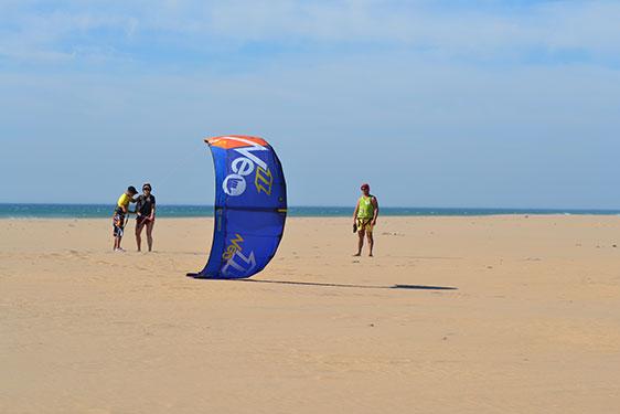 Curso bautismo de kiteboarding en Estepona-Costa del Sol